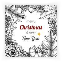 Weihnachten und Neujahr Hintergründe und Grußkarte
