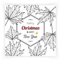 Jul och nyår bakgrunder och gratulationskort