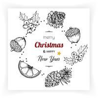 Weihnachten und Neujahr Hintergründe und Grußkarte vektor