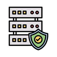 Datenbank-Sicherheits-Symbol vektor