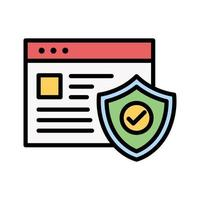 Browser-Schutzsymbol vektor