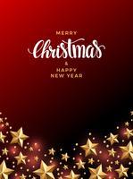 Weihnachtsgold stars Hintergrund vektor