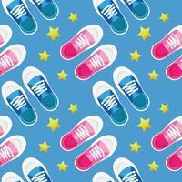 Kind stopft zwei Paar Schuhe Kinderobjekt nahtlos vektor