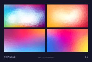 Färgglada abstrakta triangeln vektor mosaik bakgrunder uppsättning