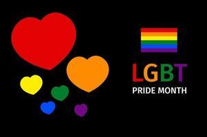 LGBT-Stolz-Monats-Design vektor
