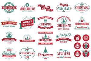 Weihnachtslogo Vektor für Fahne
