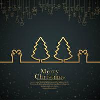 Vacker glatt julgransfestival bakgrunds vektor