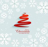 Schneeflocke und Baum backgr der abstrakten Karte des Festivals frohe Weihnachten vektor