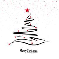 Vacker god jul kreativ träddesign vektor