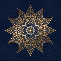 Luxus-Mandala-Hintergrund mit blauer Farbe vektor