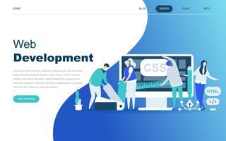 Modernt plattdesign koncept för webbutveckling
