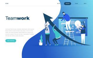 Modernt plandesignkoncept av Teamwork vektor