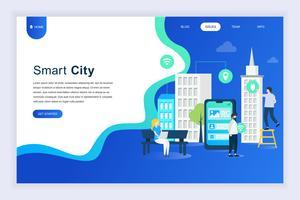 Modernes flaches Designkonzept von Smart City vektor