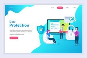 Modernes flaches Designkonzept des Datenschutzes