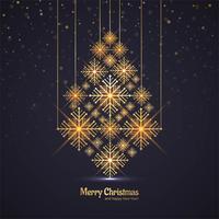 Baumfeier-Grußkartendesign vect der frohen Weihnachten glänzendes vektor