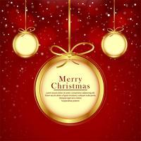 Festivalhintergrund der schönen Bälle der frohen Weihnachten