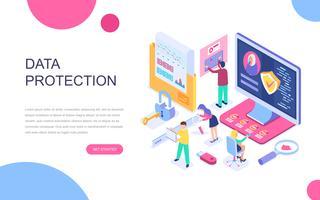 Modern plattform isometrisk koncept för dataskydd
