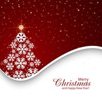 Fröhlicher Weihnachtsbaum mit Kartenfestivalhintergrund vektor