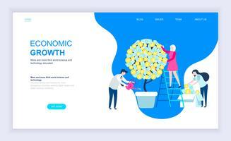 Modernt plandesignkoncept av ekonomisk tillväxt