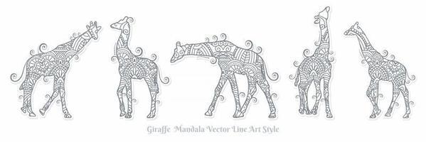 Giraffe Mandala-Vektor. Vintage dekorative Elemente. orientalisches Muster, Vektorillustration. vektor