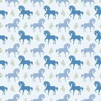 Vektor-Pferd nahtlose Muster Hintergrund stock vector image