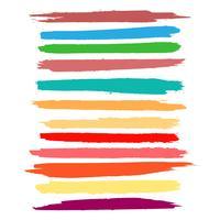 Abstrakt färgrik akvarell hand rita stroke set vektor