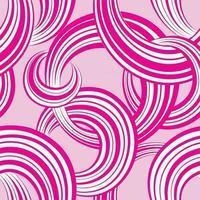 abstraktes geometrisches nahtloses Muster. Blasenhintergrund. Kreise. Welle gestreifte Schleifen chaotische Flussbewegung Textur. runde Form Ziertapete vektor