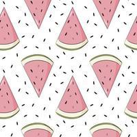 Wassermelonenscheiben nahtloses Muster vektor
