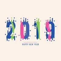 Frohes neues Jahr mit spritziger Stimmung vektor