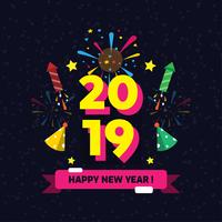 Frohes neues Jahr Instagram Vektor