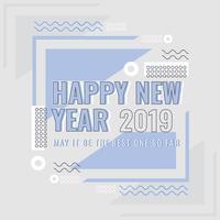 Vektor-guten Rutsch ins Neue Jahr Instagram Post