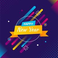 gott nytt år instagram post vektor