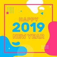 Frohes Neues Jahr Instagram Post vektor