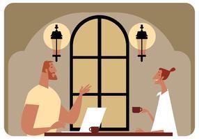 Treffen im Kaffeestube-Vektor
