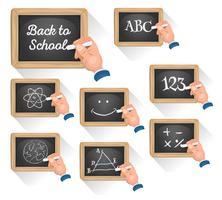 Tafel Zeichen für den Wiedereintritt in die Schule