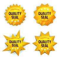 Cartoon Gold Premium Qualitätssiegel