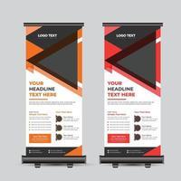 Roll-Up-Banner für moderne Geschäftskonferenzen vektor