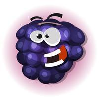 Rolig Blackberry-karaktär för geléetikett vektor