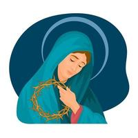 Jungfrau der Einsamkeit katholisch Karfreitag vektor