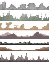 Nahtlose Landschaftsgründe für Spiel Ui vektor