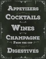 Restaurant-Getränke und Getränkehintergrund vektor