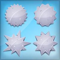 Stone Awards och Seal Ikoner för Ui Game vektor