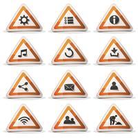 Verkehrsschild-Symbole und Schaltflächen für Ui-Spiel