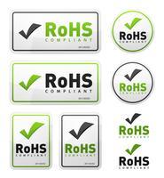 Överensstämmer med RoHS-direktiv Icons Set vektor