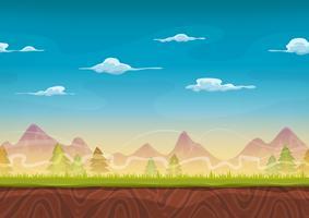 sömlösa bergslandskap för ui-spel vektor