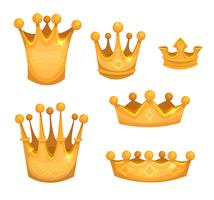 Königliche goldene Kronen für Könige oder Spiel Ui vektor