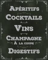 Französischer Restaurant-Getränkehintergrund