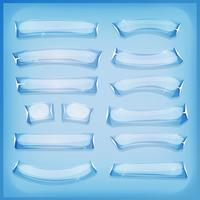 Cartoon Glass Ice och Crystal Banners