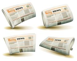 Zeitung Icons Set vektor
