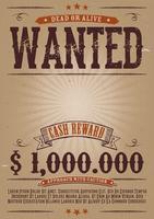 Steckbrief Vintage Western Poster